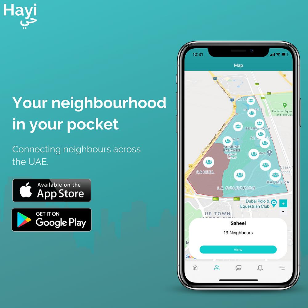 Hayi App helping neighbours