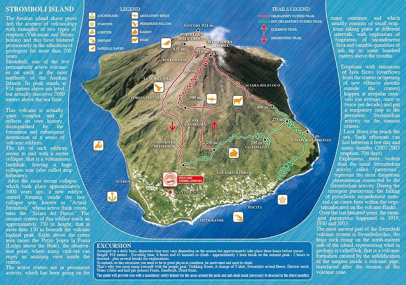 mappa Isola di Stromboli, cartina di Stromboli