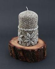 śniegowa kula, toczenie w drewnie, prezent oryginalny, podstawka pod świece sosna