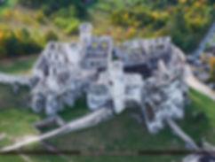 Zamek w Ogrodzieńcu, śląsk, wycieczka, szlak orlich gniazd, ruiny, zabytki polski, szklana, śnieżna, kula, śniegowa,