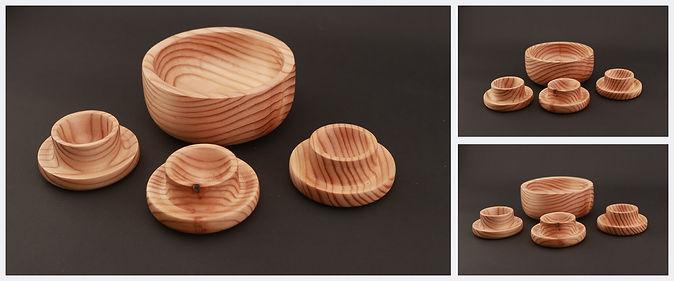 misa drewna, drewniana, modrzew, modrezwiowa, jajecznik, podstawka na jajko