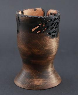 Czara, pirografia wypalone ozdoba, kielich toczony ręcznie