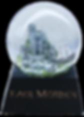 Szklana śnieżna kula zamówienie :: Artystyczne toczenie w drewnie