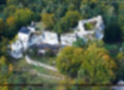 Ruiny zamku Bąkowiec w Morsku, PRL, Kazimierz Wielki, średniowiecze, pamiątka, świetna, upominek
