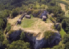 Gród na Górze Birów, góra, skała, ostańce, wapienna, szklana, kula