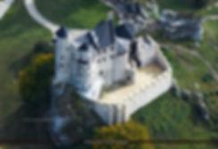 Zamek w Bobolicach, odbudowa zamku w Bobolicach, miniatura zamku, śnieżna kula, figurka