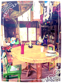 Handmade Wooden Tables in The Parlor
