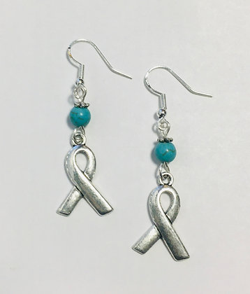 Ribbon Awareness Support Earrings