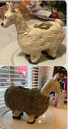 Did you have a Chia Pet as a child?  Did you always want a Chia Pet?  Now is your chance to make your own Chia Pet out of clay!
