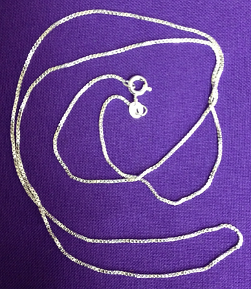Sterling Silver .925 Box Chain Necklace