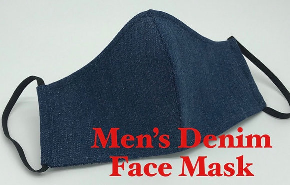 Men's Denim and Camo Reversible Masks -In Store Now