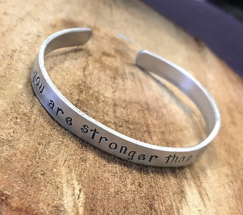 You are stronger than you think HandStamped Bracelet