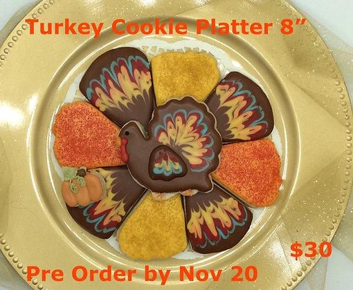 """Turkey Cookie Platter 8"""""""