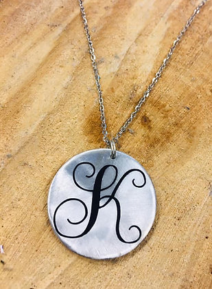 Single Letter Monogram Necklace