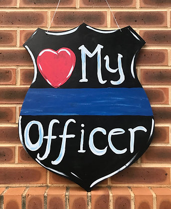 Police Officer First Responder Cut Out
