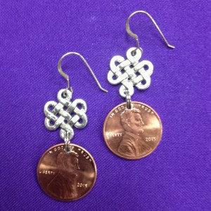 Lucky Penny Earrings (on sterling earwires)