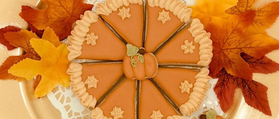 "Small Pumpkin Pie Cookie Platter 6"""