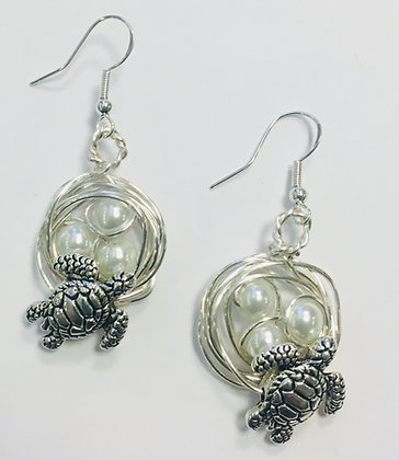 Turtle Nest Earrings