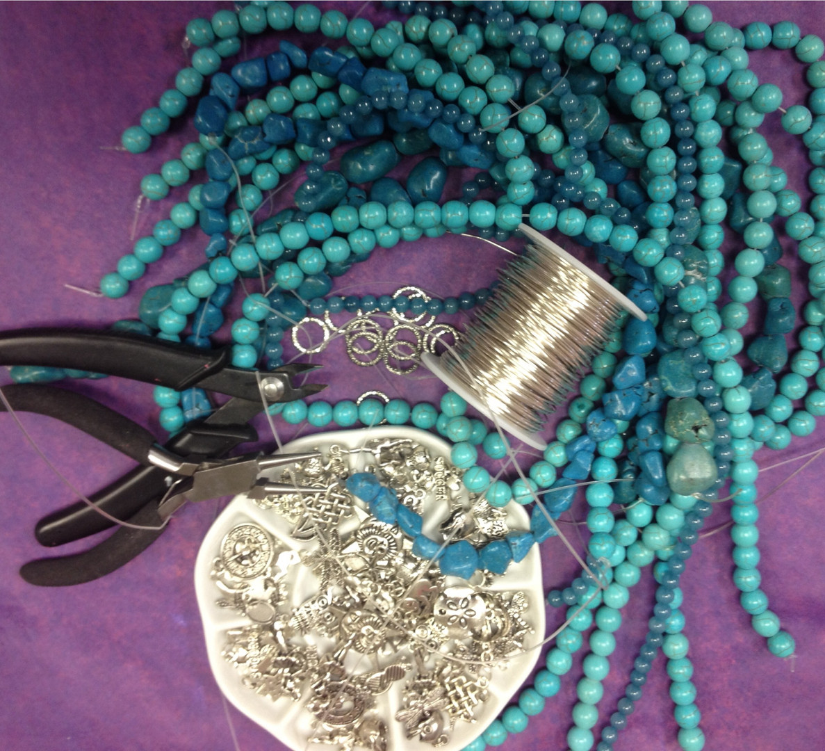 jewelry making class - turquoise.JPG