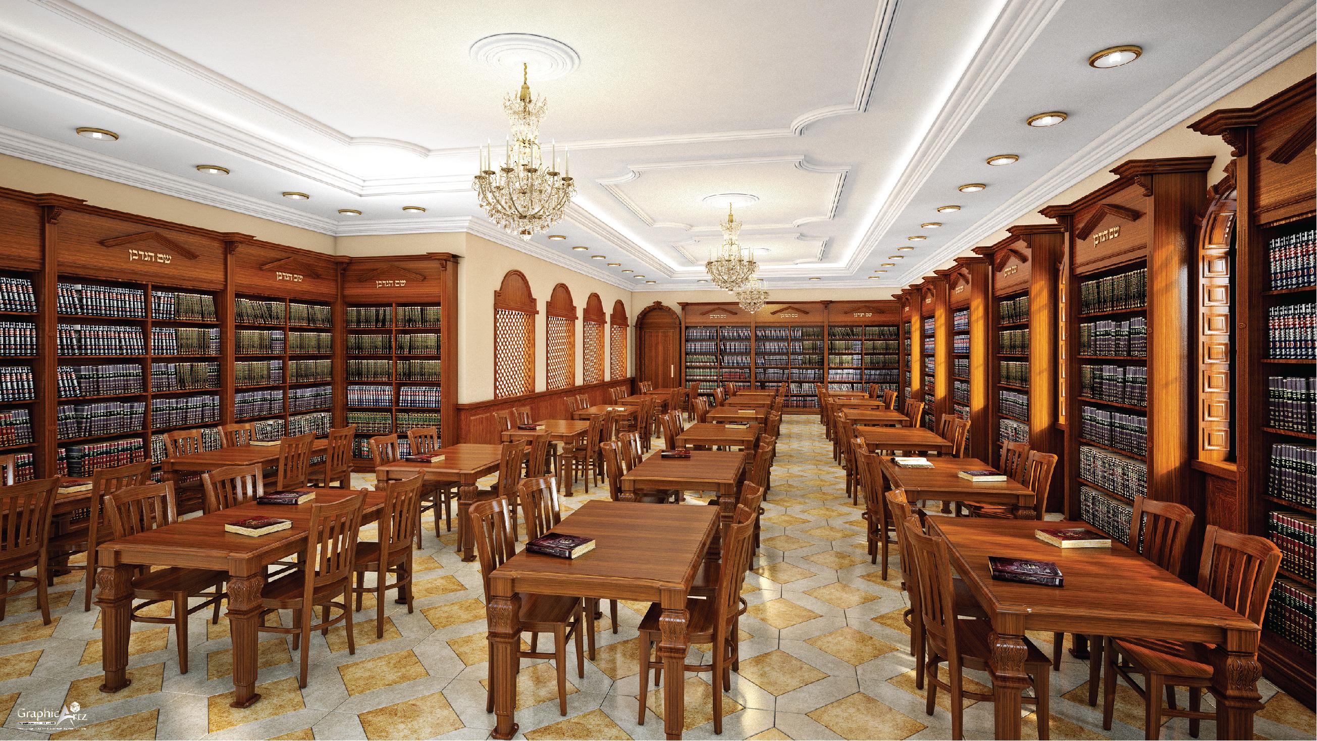 Heichal Hatorah Shul interior CGI