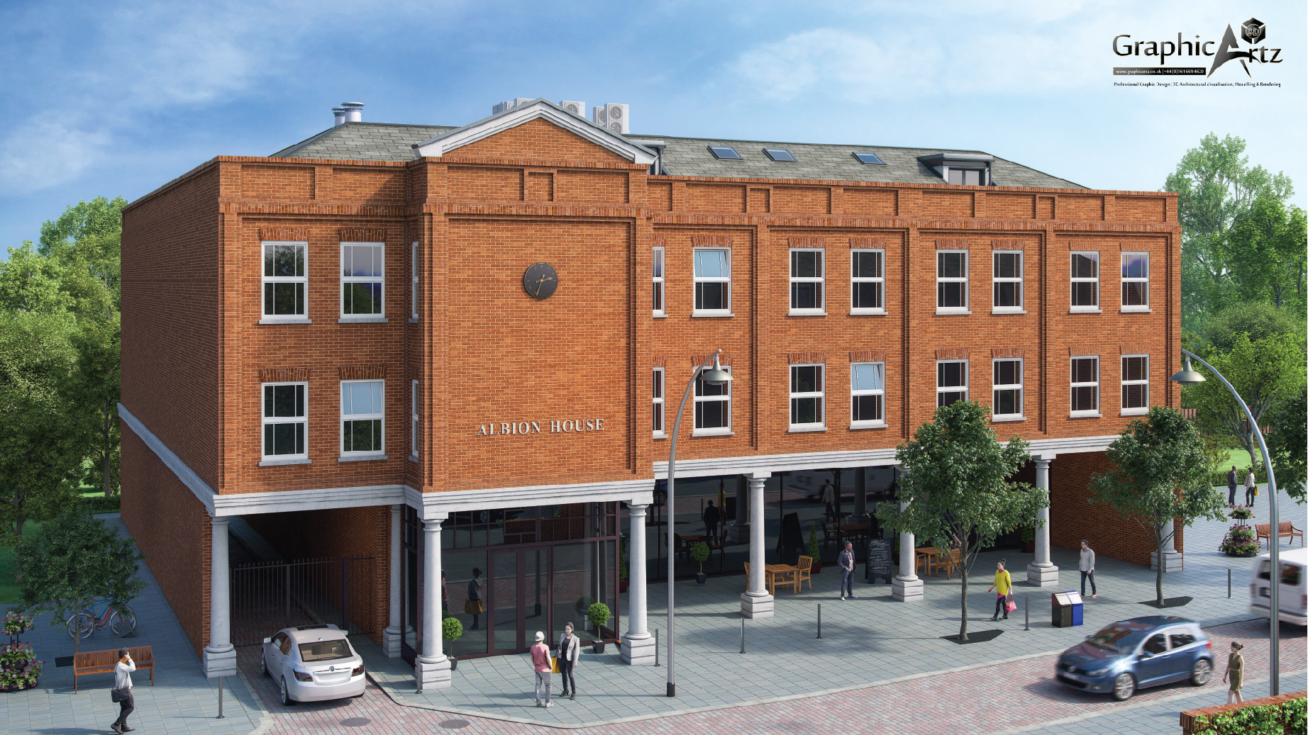 Albion House exterior CGI