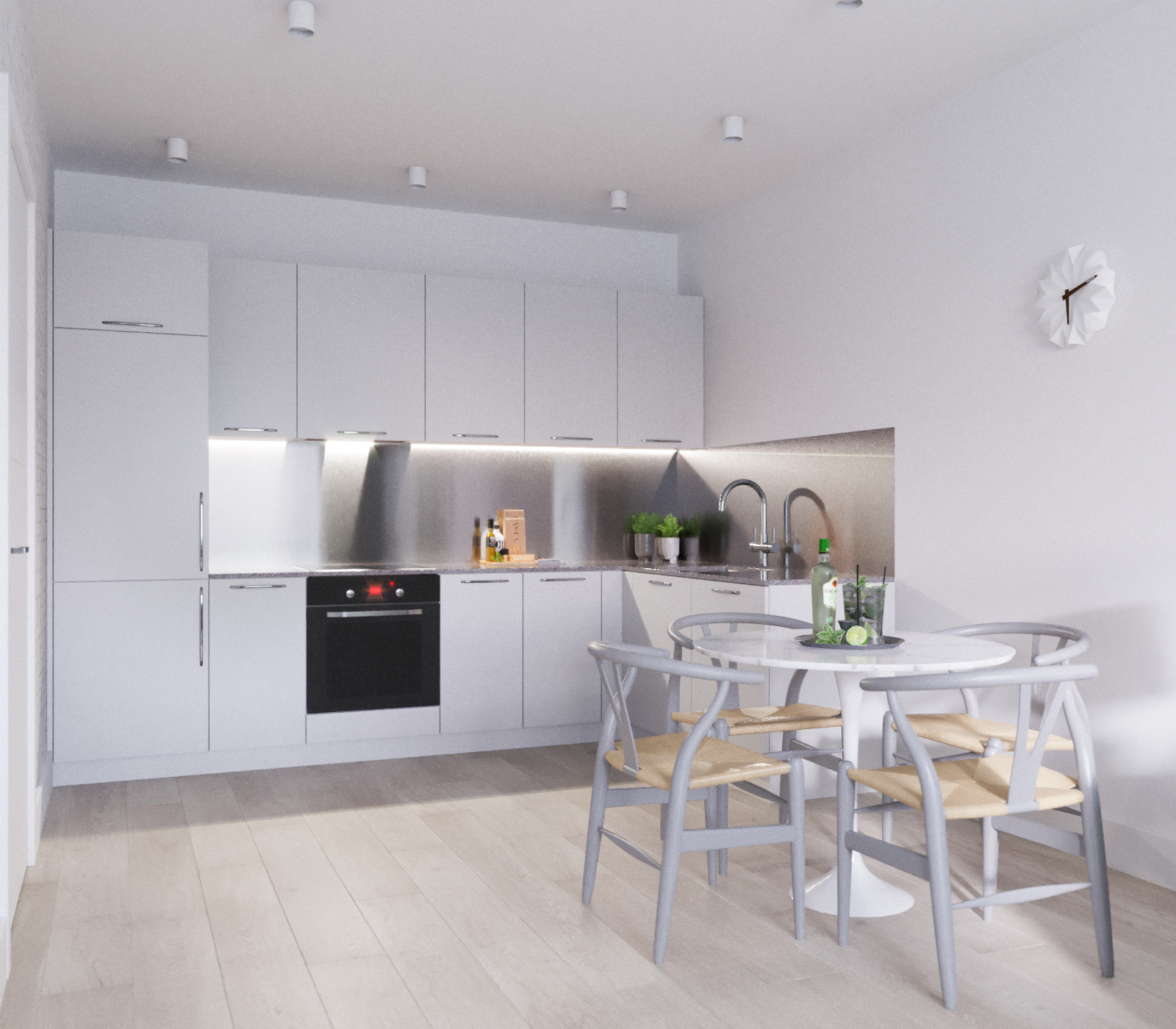Kitchen / Living CGI