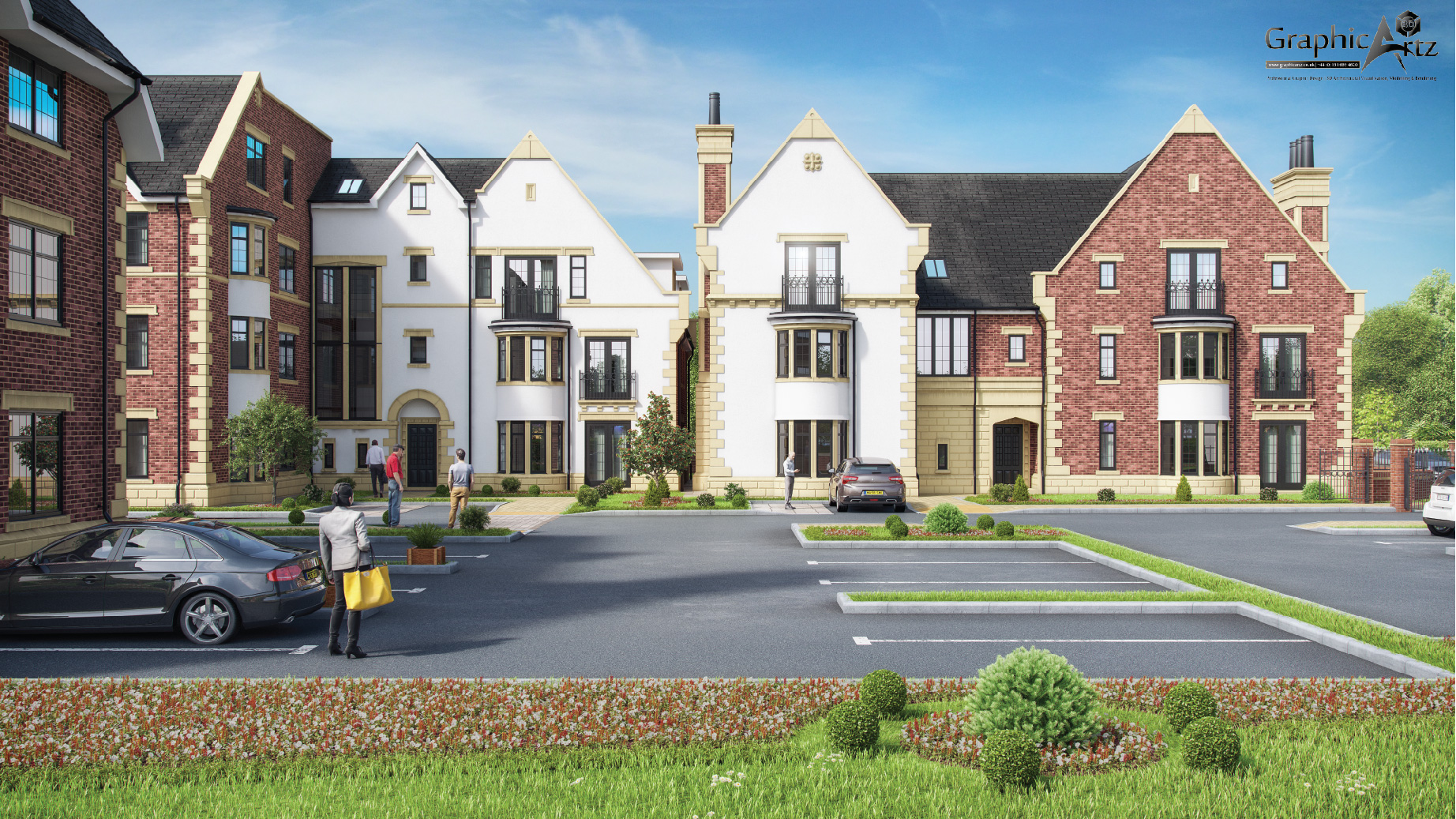 Hickory Grange CGI eye-view