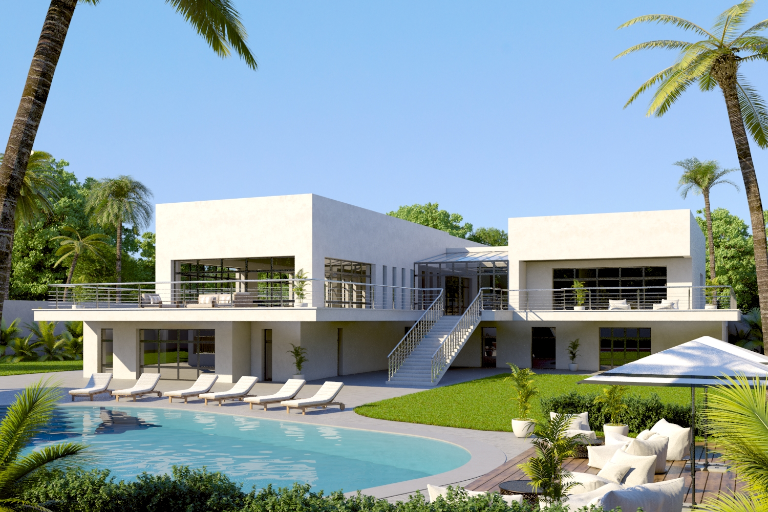 Villa with Pool CGI
