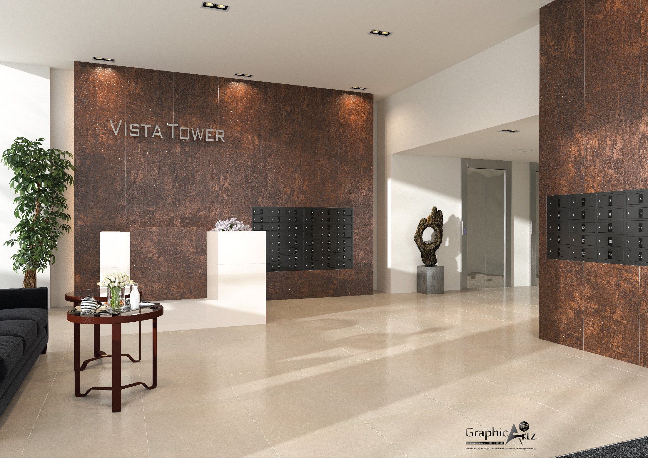 Vista Tower CGI of Lobby