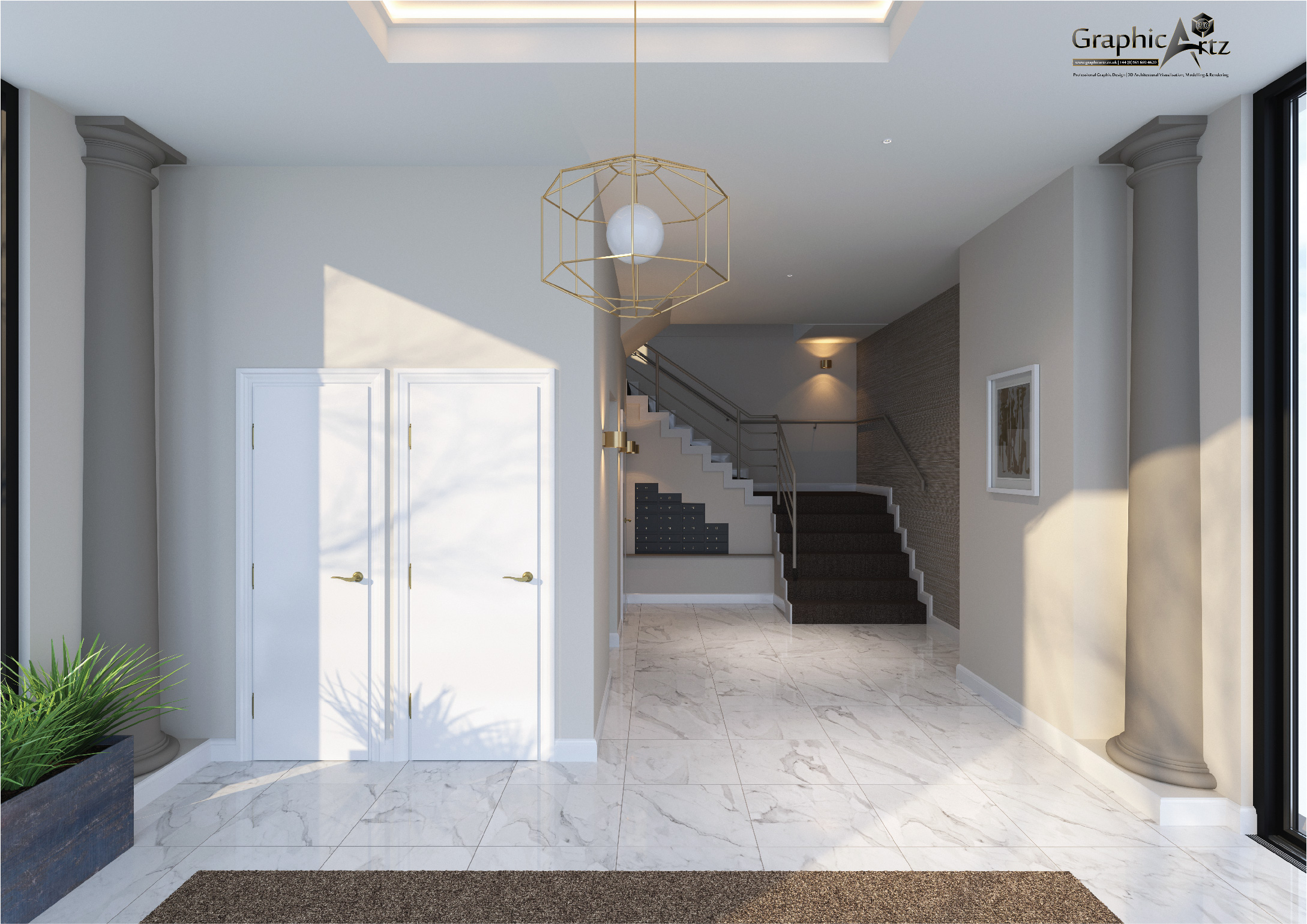 Hall home Interior CGI