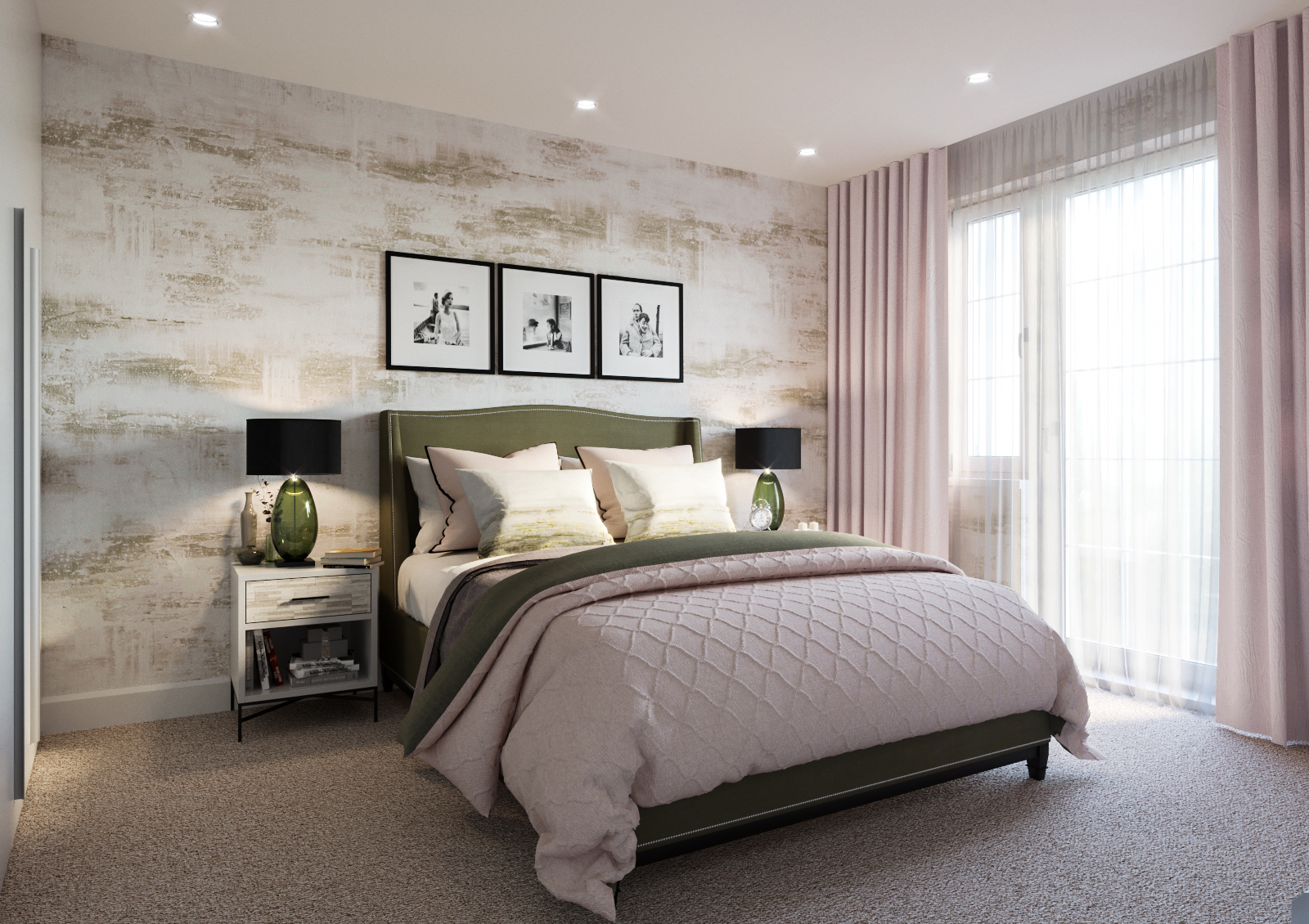 Luxury Bedroom CGI