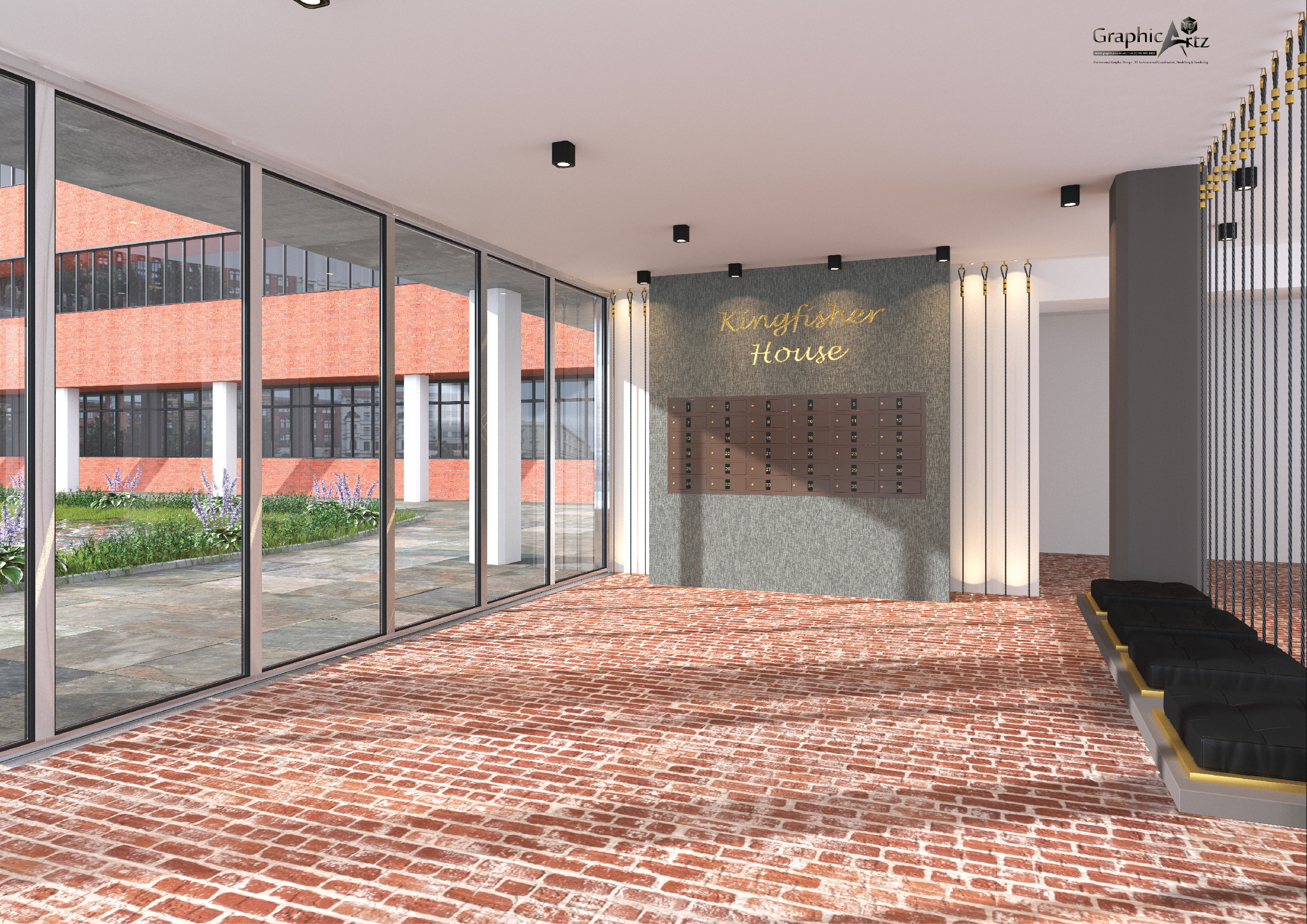 Kingfisher House CGI Lobby
