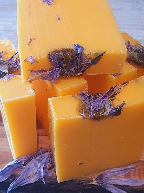 1 x Grapefruit & Saffron Flower  soap
