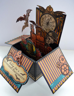Halloween box invitation