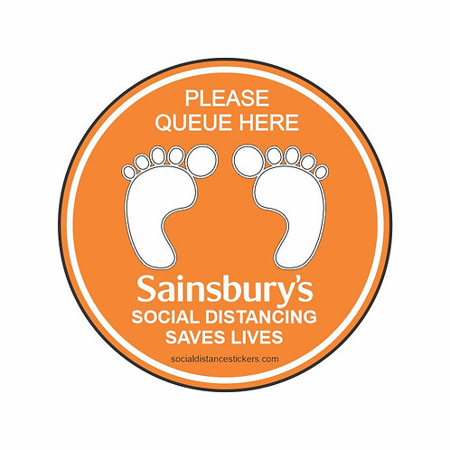 Sainsbury's Social Distance Marker