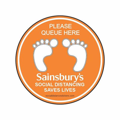 Sainsbury's Social Distance Marker