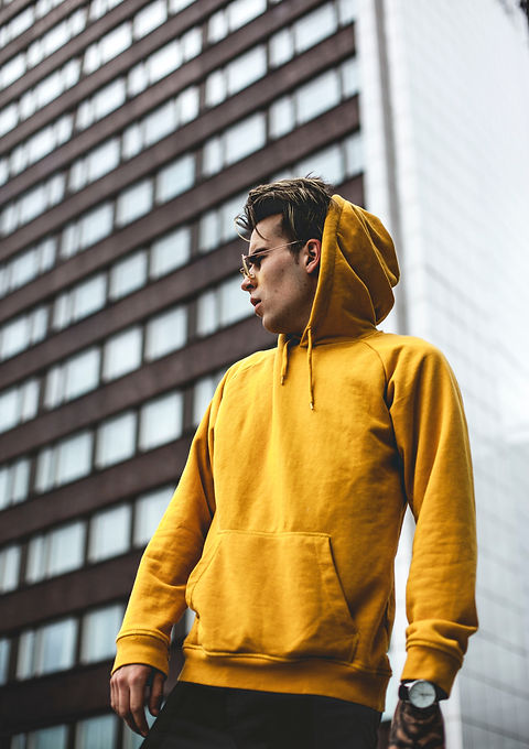 photography-of-guy-wearing-yellow-hoodie
