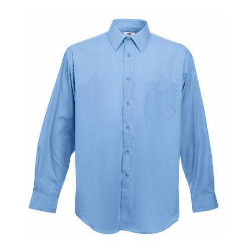 Camisa Poplin manga comprida 120g - 55% Algodão/ 45% Poliéster