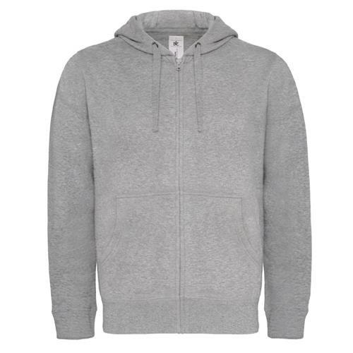 Casaco Sweat B&C Hooded Full Zip 280g - 80% Algodão escovado/ 20% Poliéster