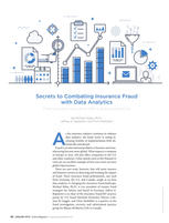 """""""Secrets to Combating Insurance Fraud with Data Analytics"""". Published in Claims Magazine."""