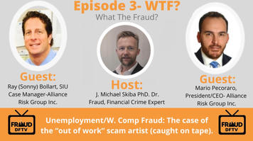 """DFTV investigates: Unemployment/W.Comp Fraud: The Case of the """"Out of Work"""" Scam Artist (caught on camera). Joining DFTV this week is special guest Mario Pecoraro and Ray (Sonny) Bollart from Alliance Risk Group"""
