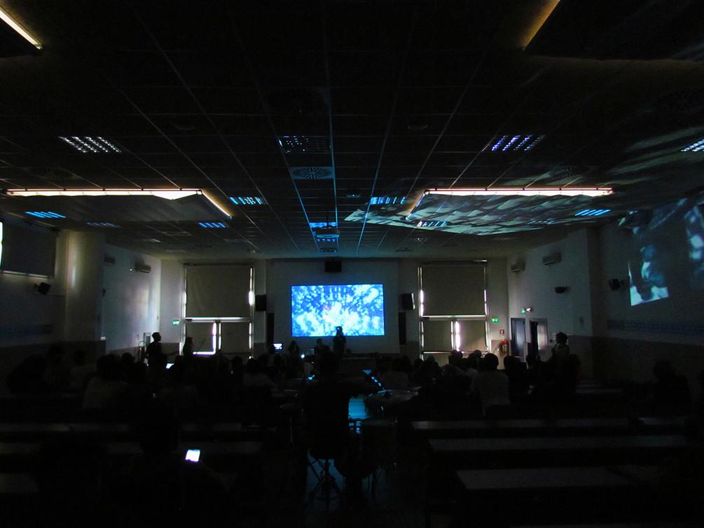 Esperimento audiovisivo e lezione-concerto all'interno del Laboratorio di Arti Digitali del prof. Lino Strangis