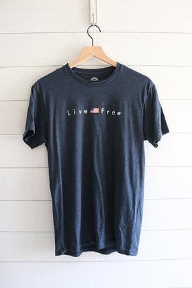Live Free (Navy)
