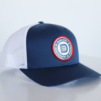 Circle Logo Snapback (Navy/White)