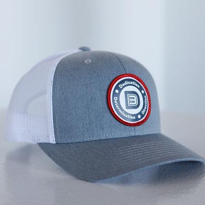 Circle Logo Snapback (Gray/White)