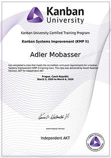 kanban management professional KMPii Kanban Systems improvement KSI Kanban University Certificate