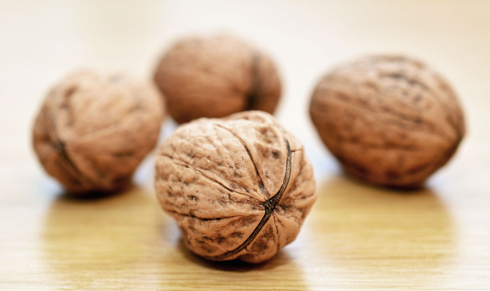 Walnuts are an excellent source of Omega 3 Fatty Acids and help reduce inflammation.
