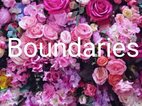 Boundaries And Why We Need Them