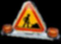 Triangle de toit électrique de signalisatio