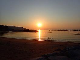 西伊豆名物の夕日